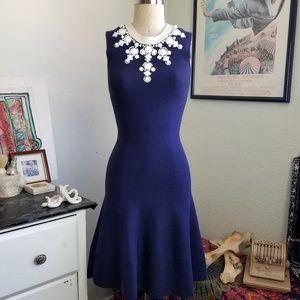 Kate Spade Holiday Bejeweled Delilah Sweater Dress